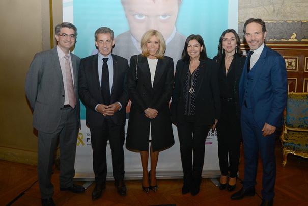 Pr Jean-Charles Soria, Nicolas Sarkozy, Brigitte Macron, Anne Hidalgo, Magali et Frédéric Lemos