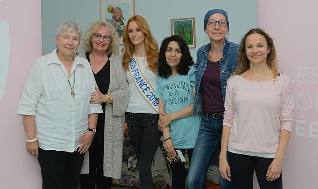 Inauguration des ateliers Rose Danse à Gustave Roussy avec Maeva Couck, Miss France 2018