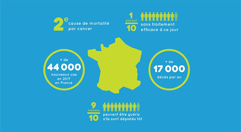 Chiffres clés du cancer colorectal en France - données INCa 2019
