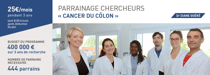 équipe parrainage chercheurs cancer du colon