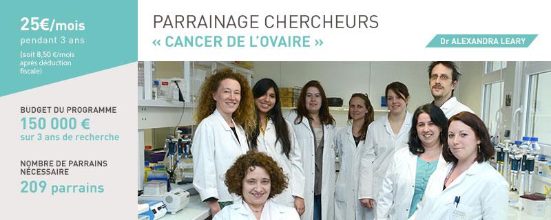 Parrainage de recherche sur le cancer de l'ovaire