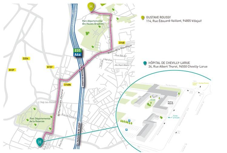 plan accès à Chevilly Larue
