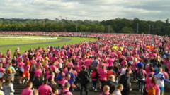 Odysséa Paris 2016 : foule rose à l'hippodrome de Vincennes