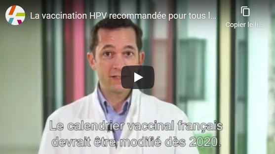 La vaccination HPV recommandée pour tous les adolescents