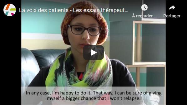 La voix des patients - Les essais thérapeutiques chez les adolescents