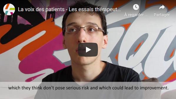 La voix des patients - Les essais thérapeutiques chez les jeunes adultes